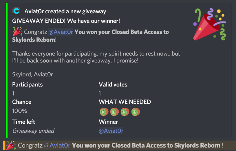How to Enter Giveaways - Announcements - Skylords Reborn